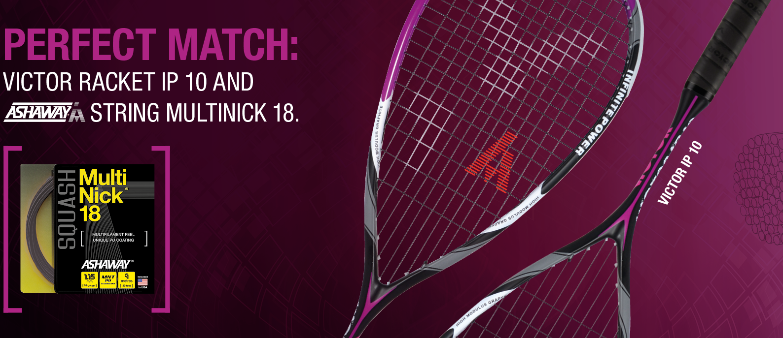 Victor IP10 Squash Racket