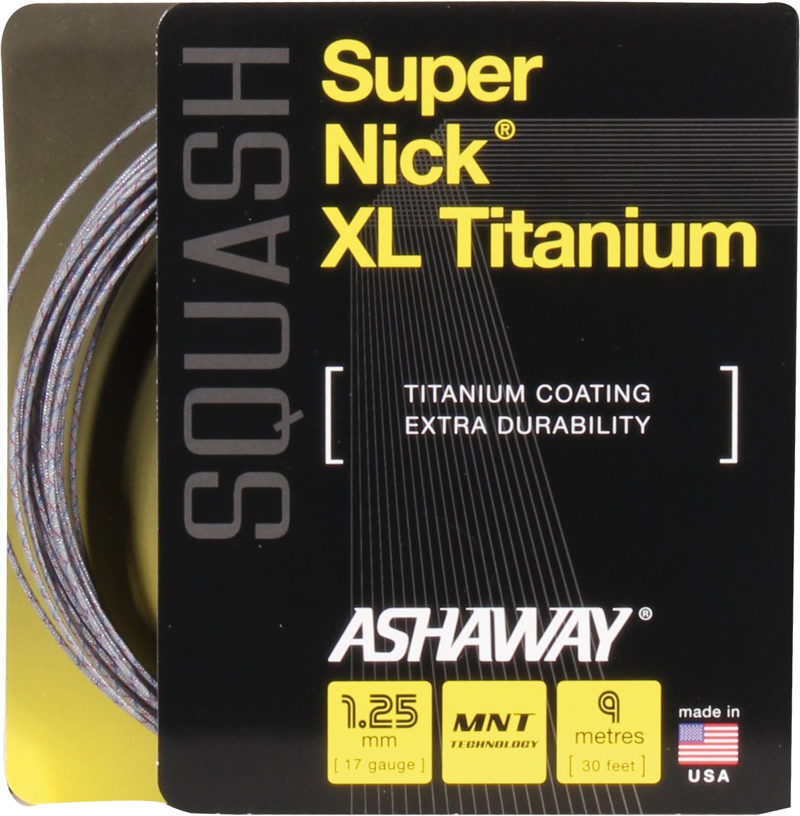 Ashaway SuperNick XL Titanium Squash Saite